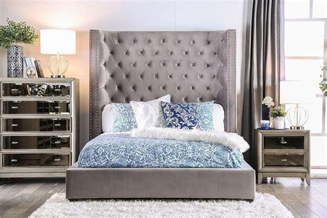 mirabelle upholstered bedroom set gray furniture  america  reviews furniture cart
