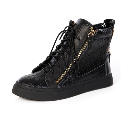giuseppe sneakers mens giuseppe zanotti shoes s high top croc embossed