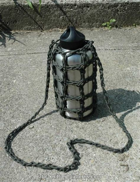 pattern for cord holder abc knitting patterns paracord water bottle carrier