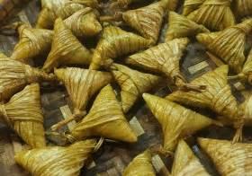 tempahan ketupat palas ketupat dakap daun pisang
