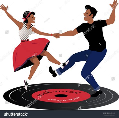 Roll Records Rockabilly On A Vinyl Rock And Roll Record