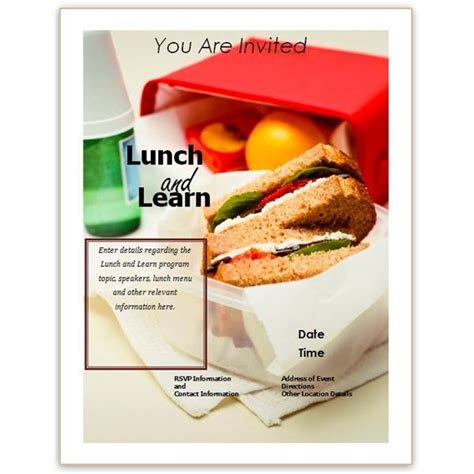 Free Business Lunch And Learn Invitation Forms Options For Ms Word And Publisher Luncheon Flyer Template