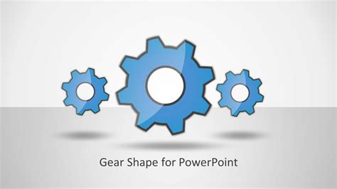 gear shape for powerpoint slidemodel