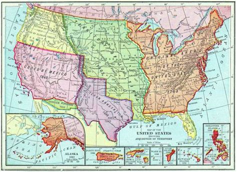 map us territories map of the territories of the united states by acquisition