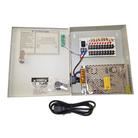Zitech Power Supply Box 5a ev pb09 05p power box 9ch security 5 fuse cctv