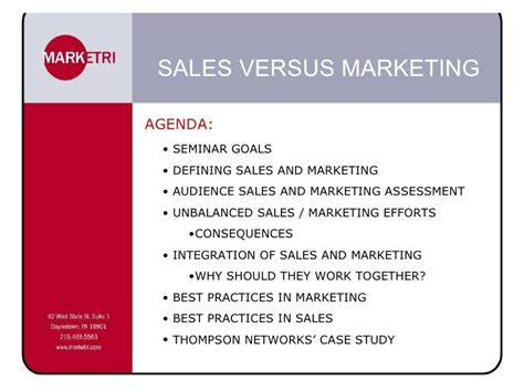 Mba In Sales And Marketing Abroad by Presentation Sales Vs Marketing Edit Emm