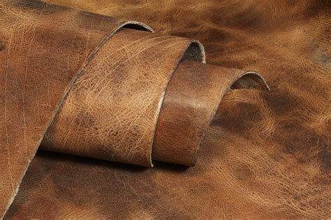 water buffalo hide antiqued finished leather 8 9oz