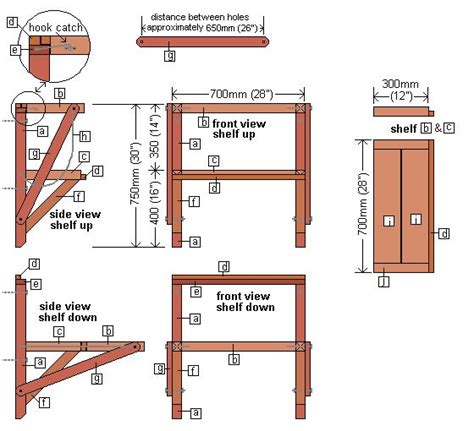 Fold Out Desk Plans by How To Make A Wall Mounted Folding Work Bench This One Has Two Levels Of Shelf You Swing The