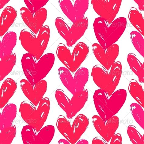 valentines day patterns s day pattern with painted hearts by tukkki