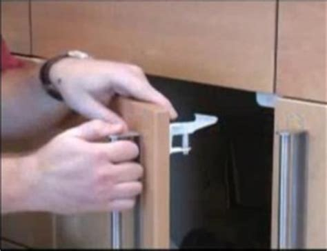 Kitchen Cupboard Child Safety Catch - installing safety latches on cabinet doors cabinet doors
