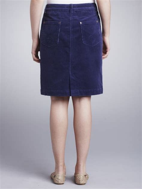lewis corduroy skirt blue in blue lyst