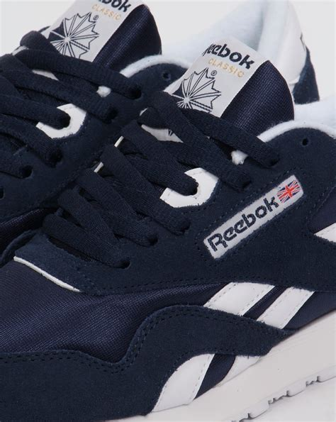 Reebok Classic Navy White reebok classic trainers navy white shoes mens