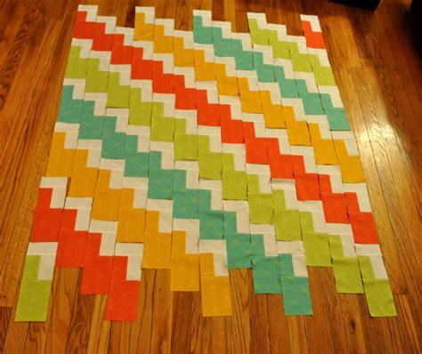 double zig zag quilt pattern modern zig zag baby quilt 9 stitches