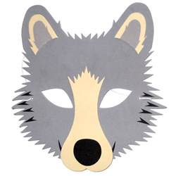 wolf mask template grey wolf mask children s animal masks blue frog toys