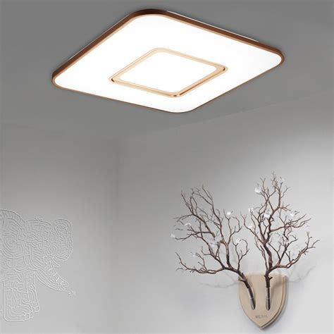 Square Ceiling Light Fixtures Dimmable 36w Square Led Ceiling Light Flush Mount Fixture Lighting 3000 6500k Uk Ebay