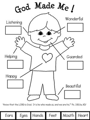 God Made Me Worksheet by God Made Me Worksheet Proverbs 3 5 6 Coloring Page