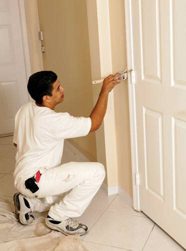 professional painting how to paint a stained door