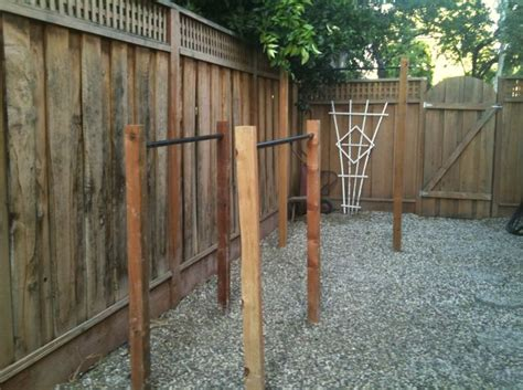 backyard pull up station back yard pull up dip station diy crossfit pinterest