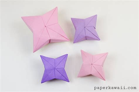 3d origami christmas star tutorial 3d origami puffy star tutorial paper kawaii