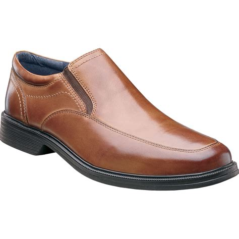 nunn bush s calgary moc toe slip on shoes dress