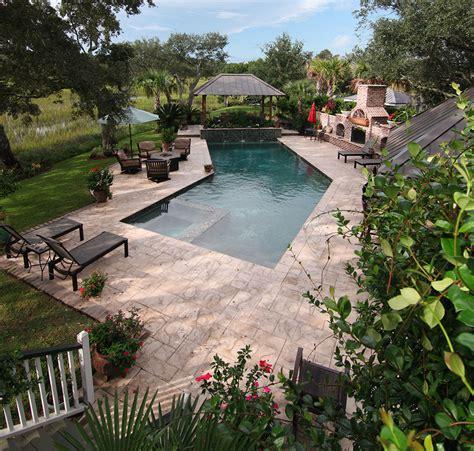 backyard sanctuary james island backyard sanctuary aqua blue pools