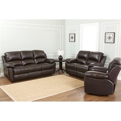 abbyson living berkshire 3 piece leather reclining furniture set burgundy abbyson living bella 3 piece leather reclining sofa set in
