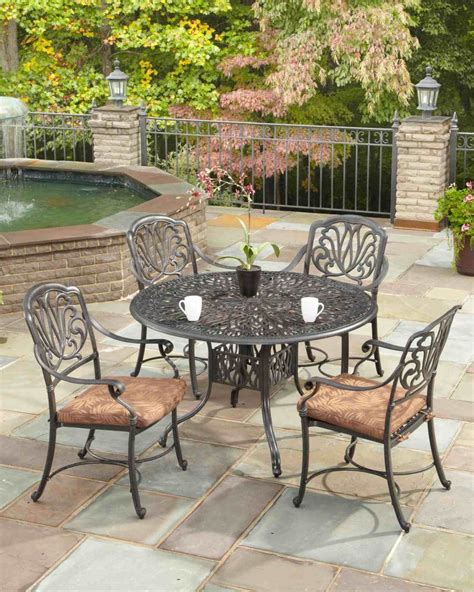 floral blossom 5 patio dining set with 48 inch