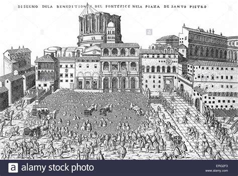 alla cupola di san pietro benedizione papale a roma italia essendo dato alla folla