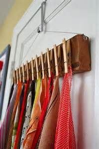 Hidden baskets behind your bed can display your scarf collection