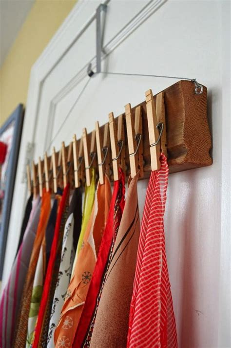 Scarf Rack Display by 59 Scarf Storage Ideas That Inspire Shelterness