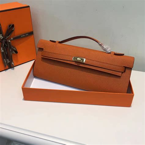 Hermes Cut Clutch Epsom Leather Mirror Quality hermes cut 31cm epsom leather clutch orange 189