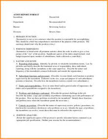 Report Writing For Business Analysts by 8 Business Report Format Exle Parts Of Resume