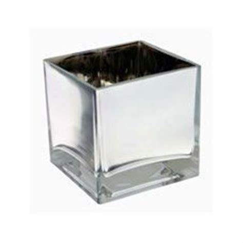 square silver cube vase 10cm florist supplies triangle