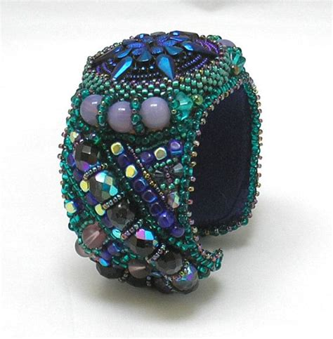 bead embroidery bracelets 1000 images about bracelets cuff bead embroidery on