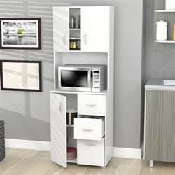 kitchen cabinet storage white microwave stand shelf 3
