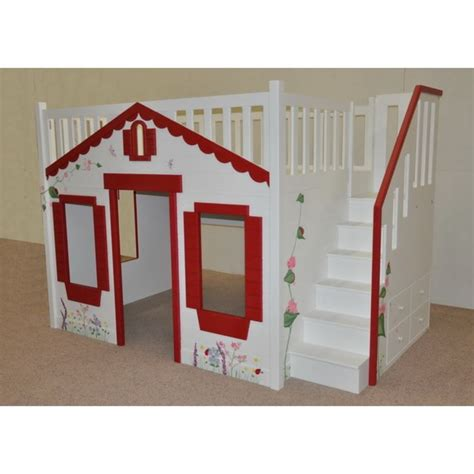 cottage loft bed cottage loft bed mindy bunk with optional staircase and