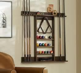 cue stick wall mount storage rack pottery barn