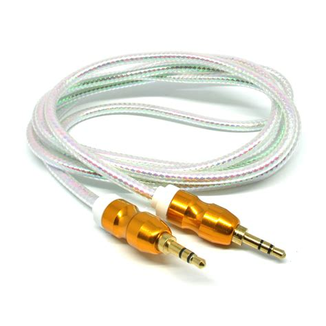 Kabel Aux 3 5mm Stereo 1 4meter kabel audio aux 3 5mm gold plated hifi 1 5 meter white jakartanotebook