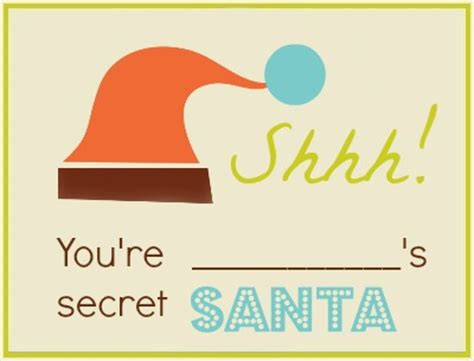 Secret Card Template by Once That S Done Everyone Is Now The Secret Santa For The