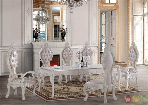 White Formal Dining Room Sets | free shipping all homey design dining sets victorian