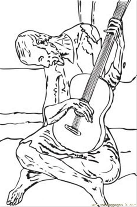 coloring book and the of pablo coloring pages blue guitar by pablo picasso other
