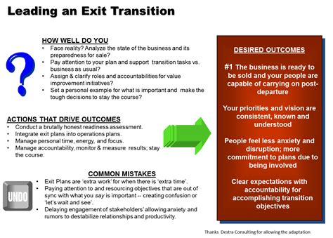 Exit Opportunities For Post Mba Consulting by Your Exit Strategy Leadership Paves A Road To The Future