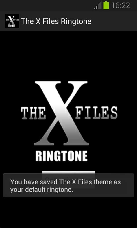 themes and ringtone the x files ringtone android apps on google play