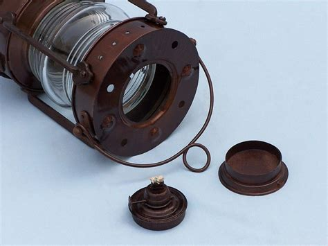 wholesale boutique copper brass collectable handwork get buy antique copper anchormaster oil lantern 15 inch