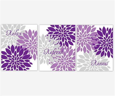 Purple wall decor