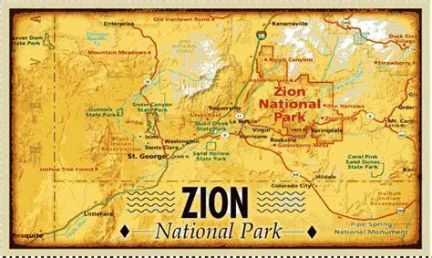 zion park map zion national park map holidaymapq
