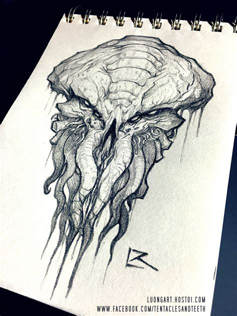 cthulhu sketch by tentaclesandteeth on deviantart