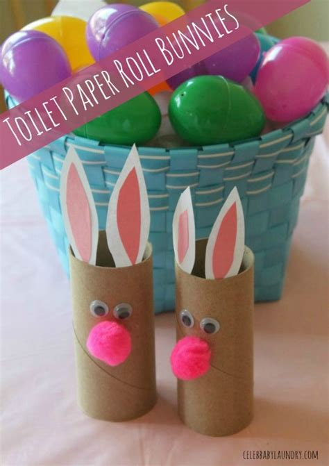 Toddler Crafts With Toilet Paper Rolls - toddler craft toilet paper roll bunnies baby