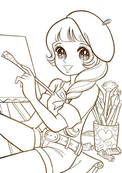 Aeromachia Shojo Manga No Memory Hi Loreface Anime Coloring Page