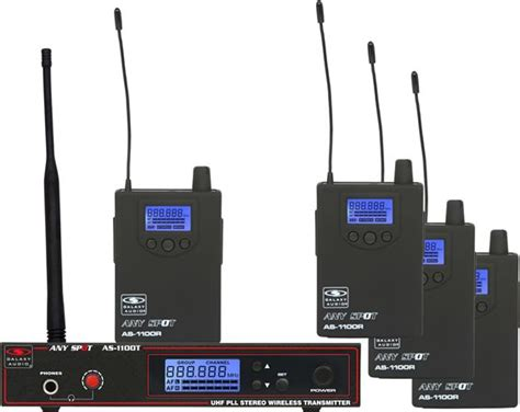 Ear Monitor Wireless galaxy audio as 1100 4 band pack wireless in ear monitor system